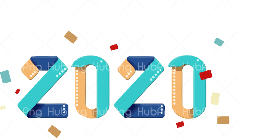 2020 png text font line color photo new year Transparent Background Image for Free