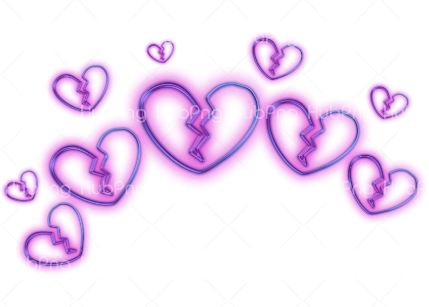 aesthetic png hearts Transparent Background Image for Free