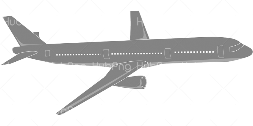 Airplane png grey Transparent Background Image for Free