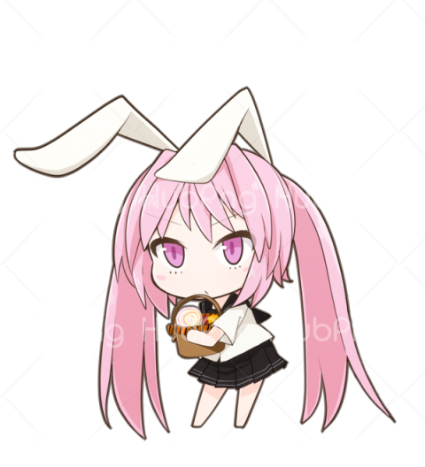 anime girl png Transparent Background Image for Free