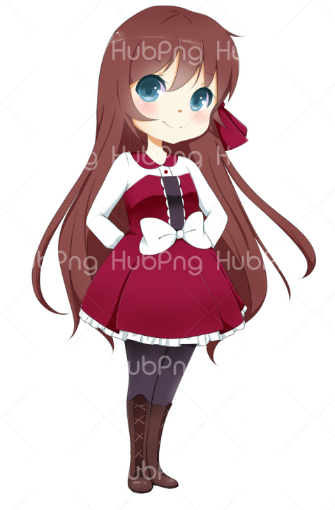 png anime girl sad Transparent Background Image for Free