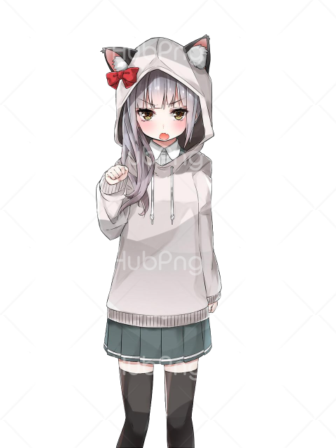 anime girl png vector Transparent Background Image for Free