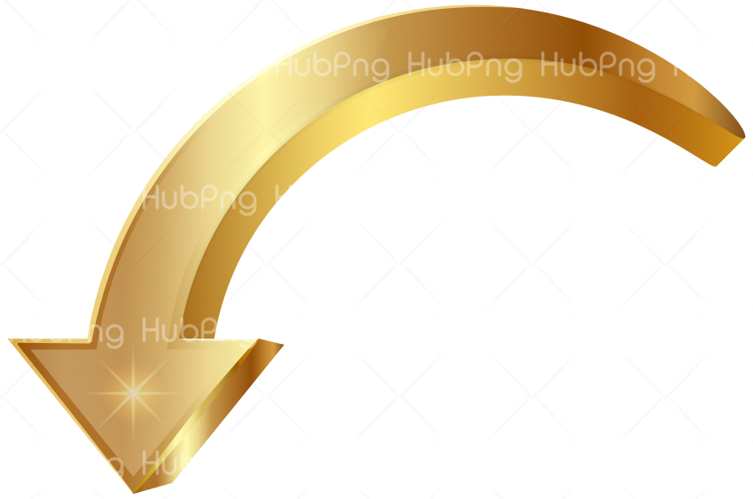 arrow png hd gold Transparent Background Image for Free