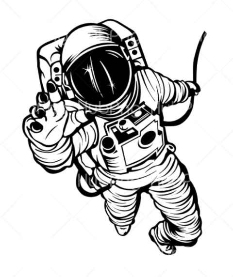 astronauta dibujo facil Transparent Background Image for Free