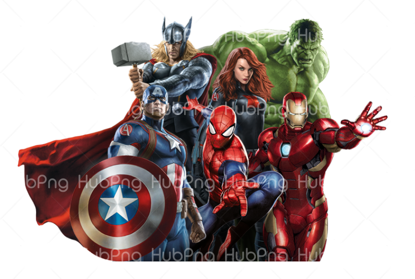 avengers Png cartoon Transparent Background Image for Free