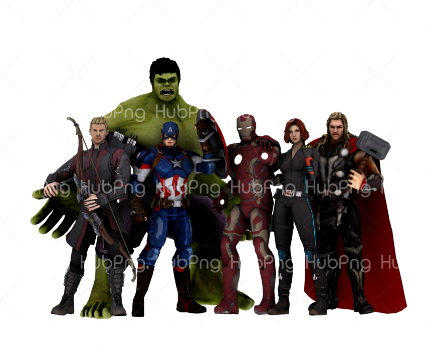 avengers png cartoon hd Transparent Background Image for Free