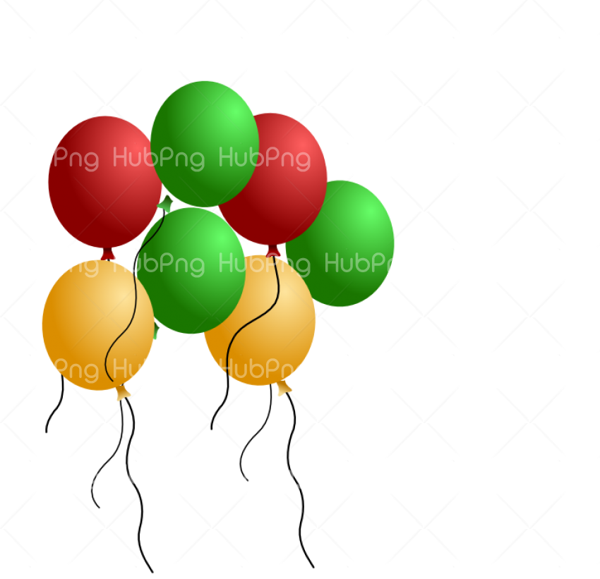 balon png green red yellow balloon Transparent Background Image for Free