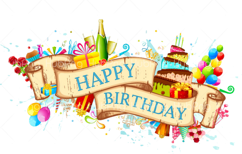 banner happy birthday png hd Transparent Background Image for Free