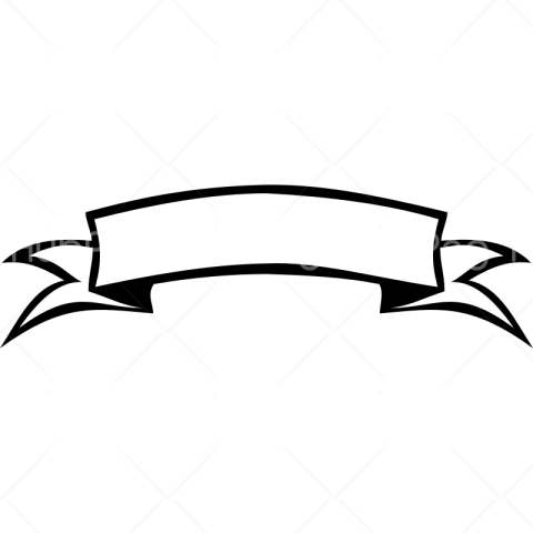 banner png black and white Transparent Background Image for Free