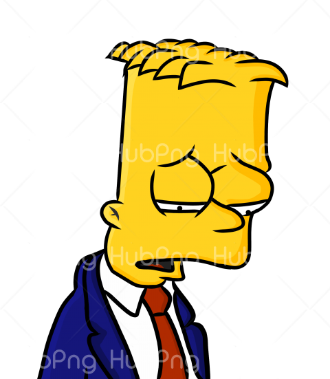 bart simpson triste hd photo Transparent Background Image for Free