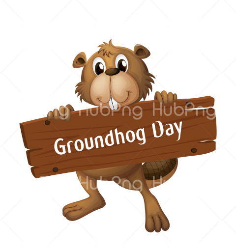beaver groundhog day png vector Transparent Background Image for Free
