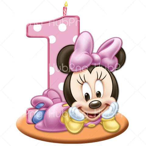 birthday minnie mouse png Transparent Background Image for Free