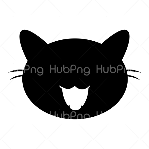black cat head png vector image Transparent Background Image for Free