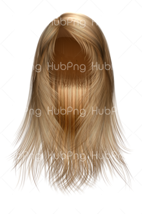blonde hair png Transparent Background Image for Free