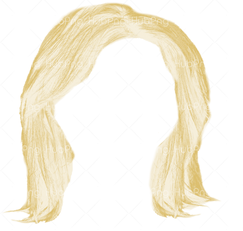 blonde hair png clipart Transparent Background Image for Free