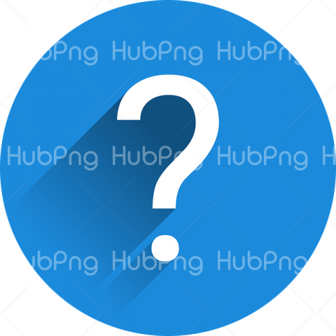 blue question mark png Transparent Background Image for Free
