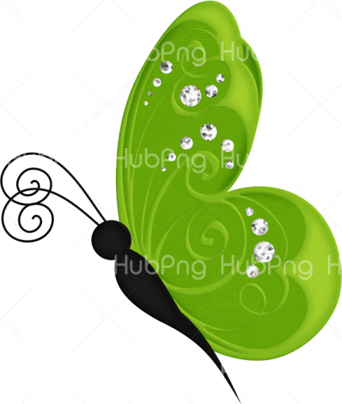 borboletas png clipart green Transparent Background Image for Free