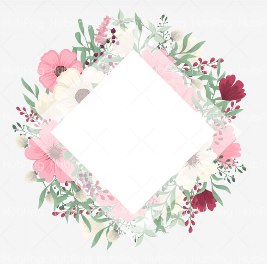 border design flower Transparent Background Image for Free