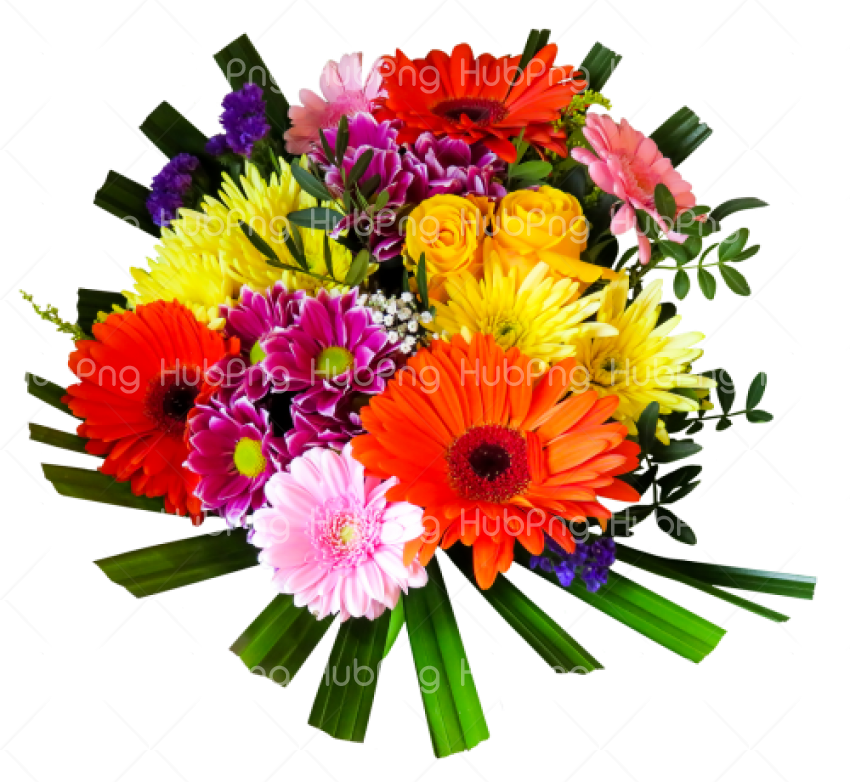 Bouquet flower PNG image Transparent Background Image for Free