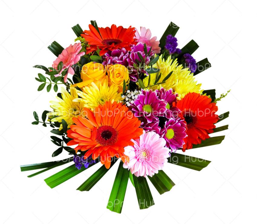 Bouquet flowers PNG image with transparent Transparent Background Image for Free