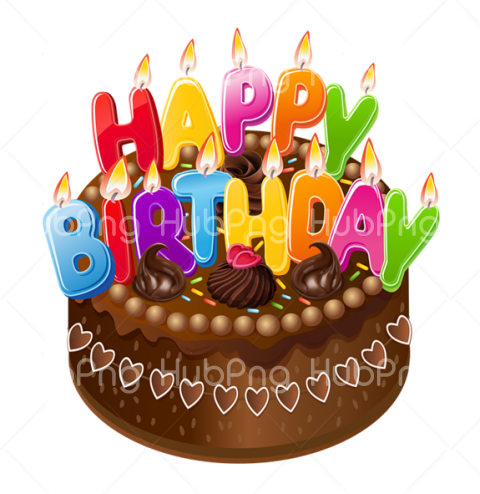 cake happy birthday png Transparent Background Image for Free