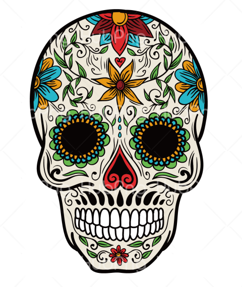 calavera png color tatto vector Transparent Background Image for Free