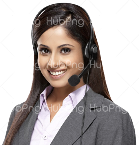 call center indian girl png image Transparent Background Image for Free