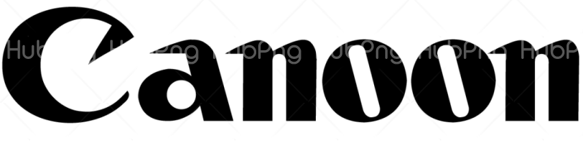 canon logo png black Transparent Background Image for Free