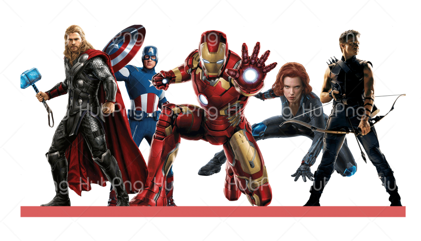 cartoon avengers Png Transparent Background Image for Free