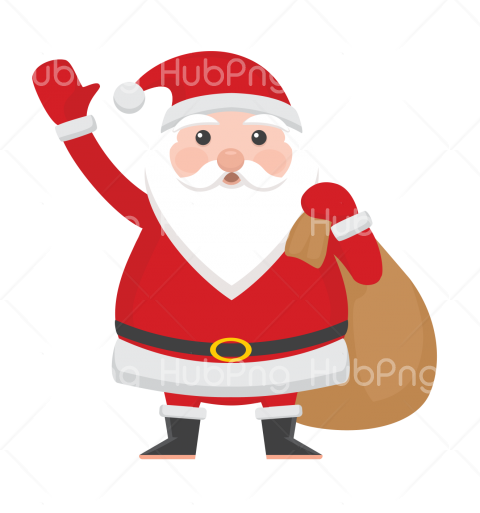 cartoon christmas santa hat png clipart Transparent Background Image for Free