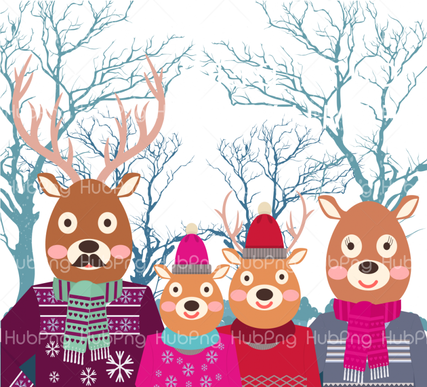 christmas clipart deer vector png Transparent Background Image for Free