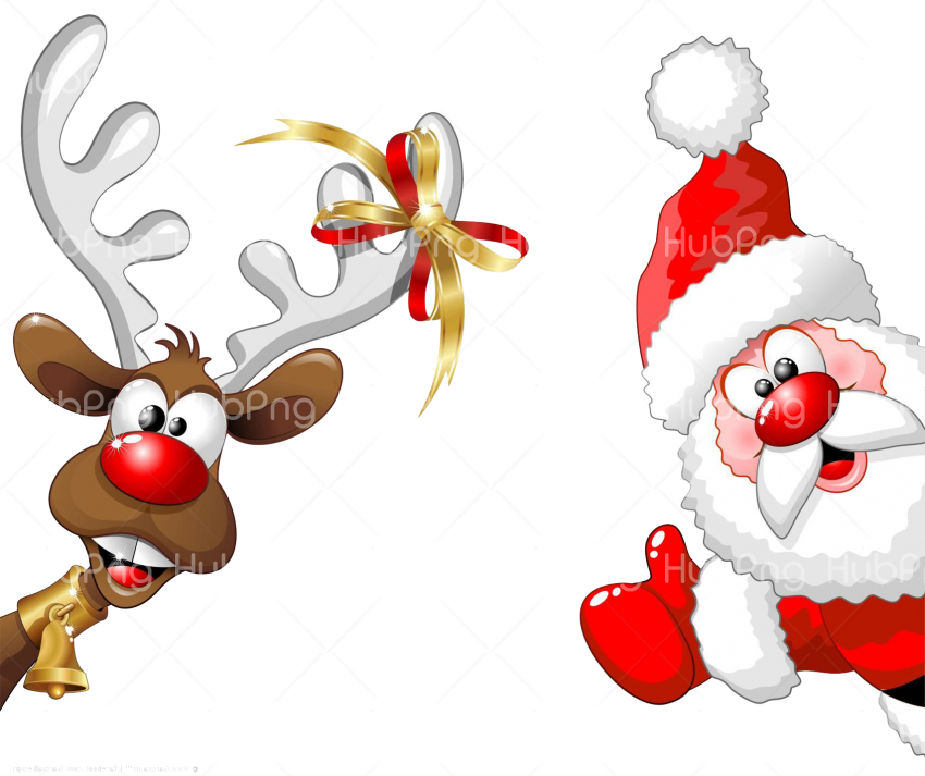 christmas santa photo png deer Transparent Background Image for Free