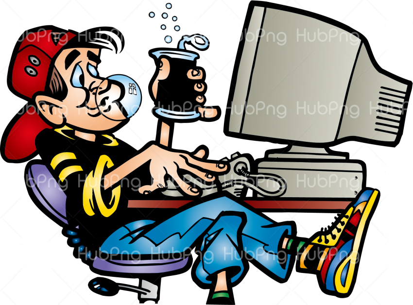 computer png cartoon ordinateur Transparent Background Image for Free