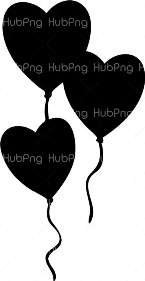 corazones png black and white Transparent Background Image for Free