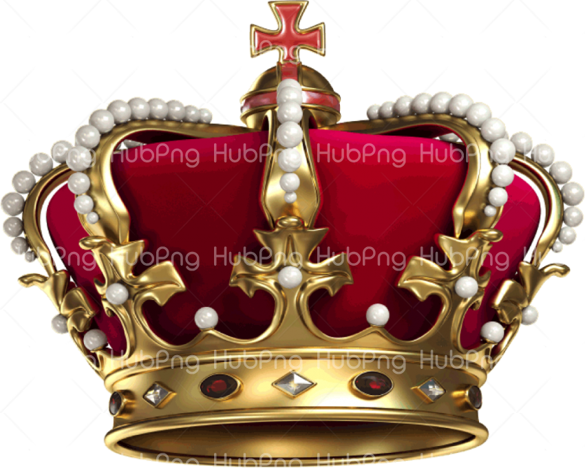 crown png red and gold Transparent Background Image for Free