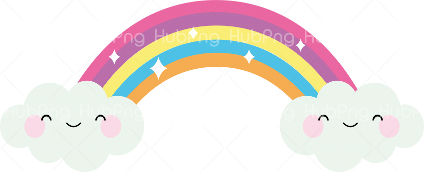cute rainbow png Transparent Background Image for Free