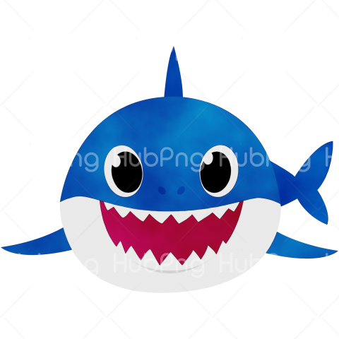 daddy shark png hd blue Transparent Background Image for Free