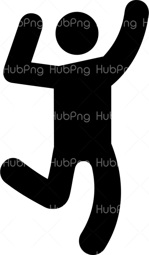 dance icon png black Transparent Background Image for Free