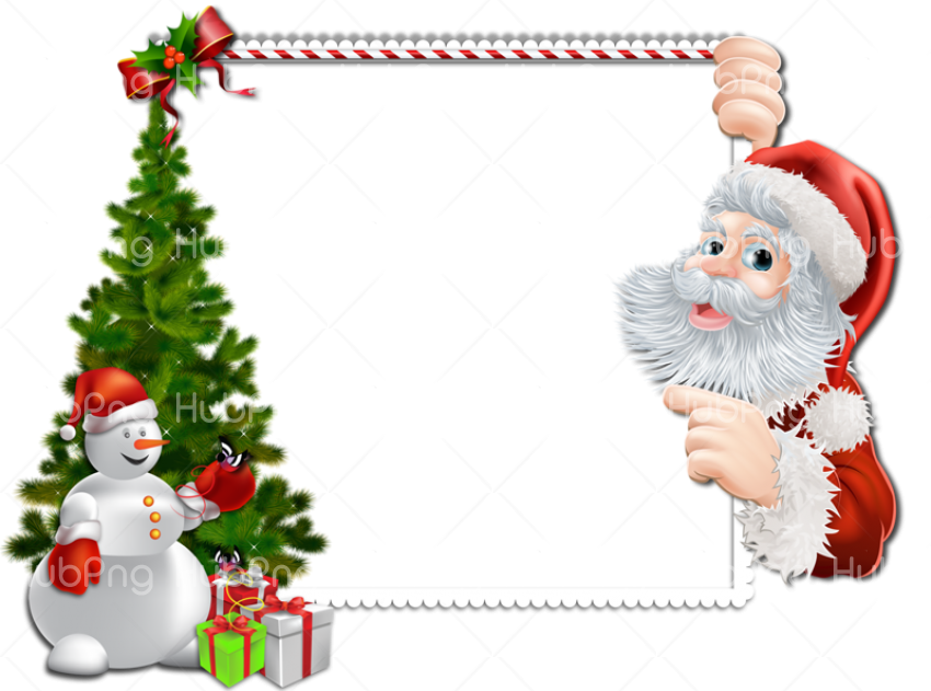 decoration santa clous png cartoon clipart Transparent Background Image for Free