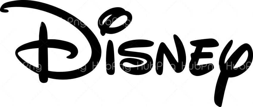 disney logo png black Transparent Background Image for Free