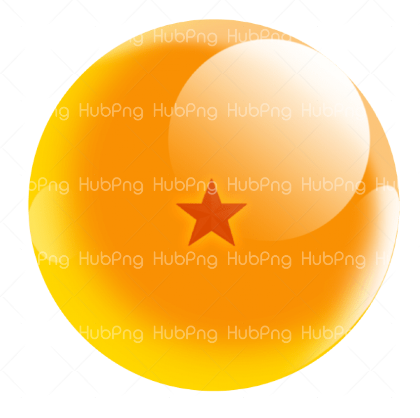 dragon ball png 1 star Transparent Background Image for Free