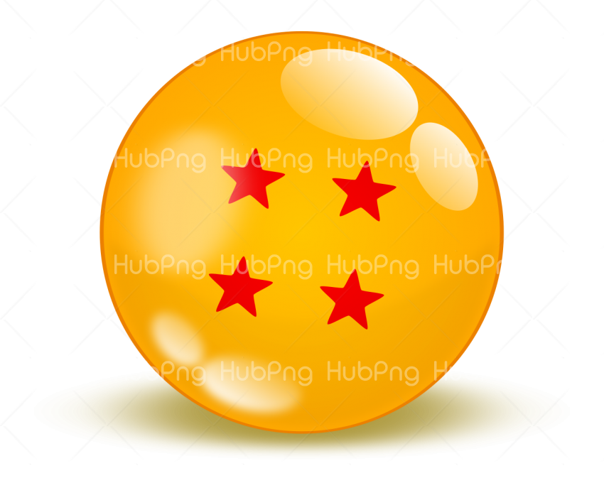 dragon ball png 4 stars Transparent Background Image for Free