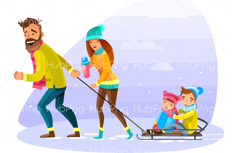 family day png fun skating Transparent Background Image for Free