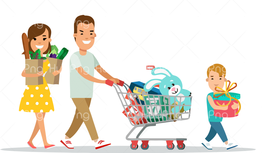 Download family day png shopping Transparent Background Image for Free