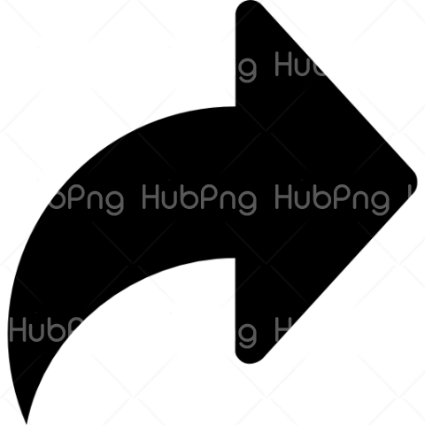 flecha png black curve Transparent Background Image for Free