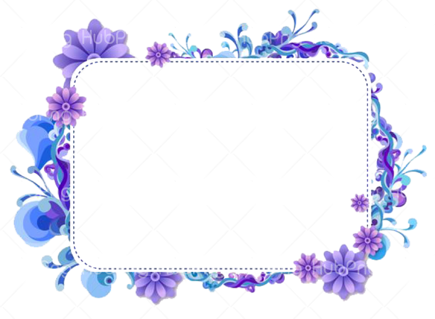 flower frame png Transparent Background Image for Free