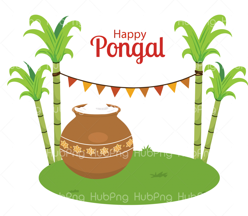 flowerpot palm happy pongal png Transparent Background Image for Free