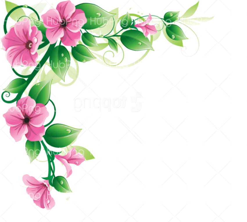 frame flowers border png Transparent Background Image for Free