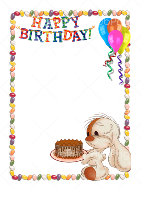 frame happy birthday png Transparent Background Image for Free