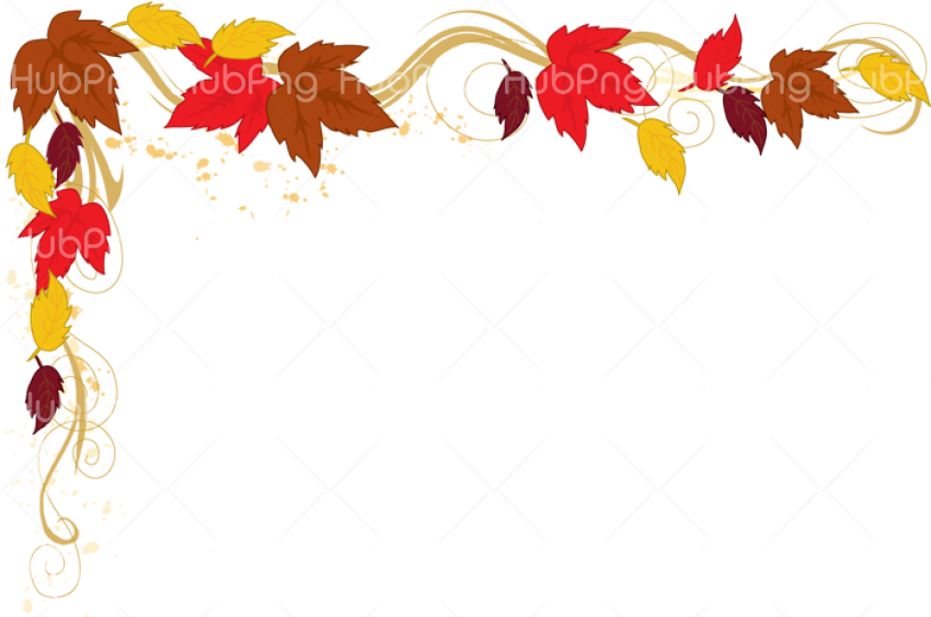 frame leafs png hd colores Transparent Background Image for Free